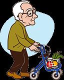 Opa 90 jaar met rollator
