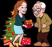 Kerstcadeau voor Opa
