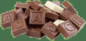 Chocolade telegram voor Opa
