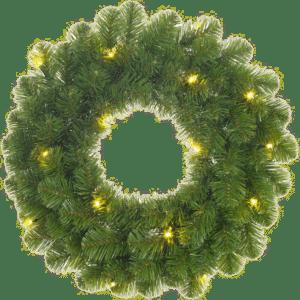 Kerstkrans met lampjes - cadeau voor opa