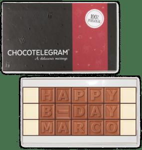 cadeau voor opa 75 jaar - chocolade telegram
