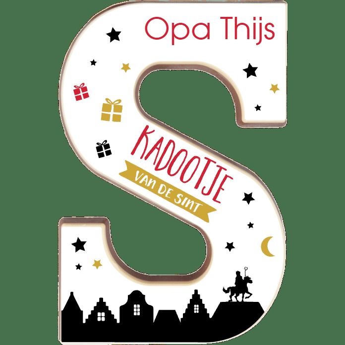 chocoladeletter met naam - cadeau voor opa