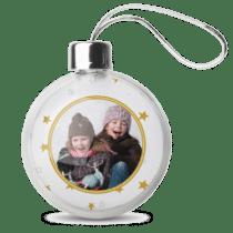 kerstbal met foto - sinterklaascadeautje voor opa
