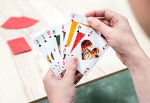 cadeau voor man 70 jaar - speelkaarten met eigen foto's