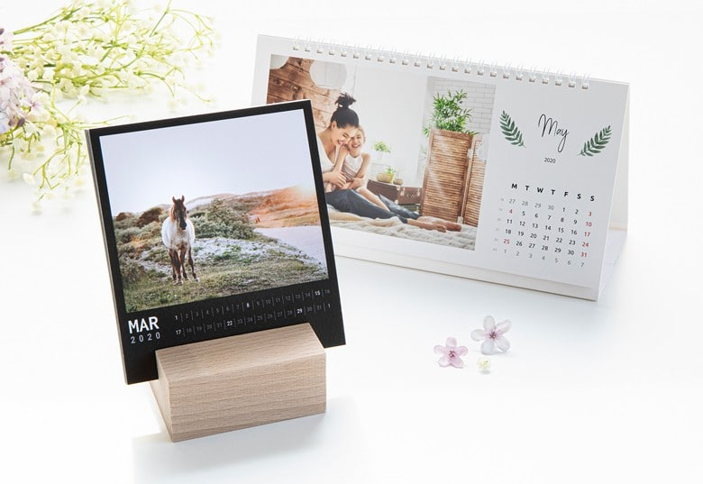 kalender met eigen foto's - bureaukalender