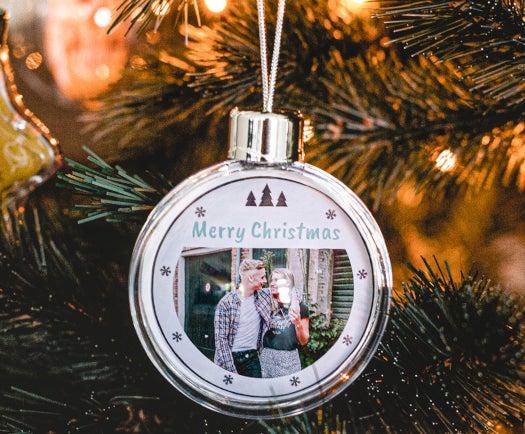 kerstbal met foto - cadeau voor opa