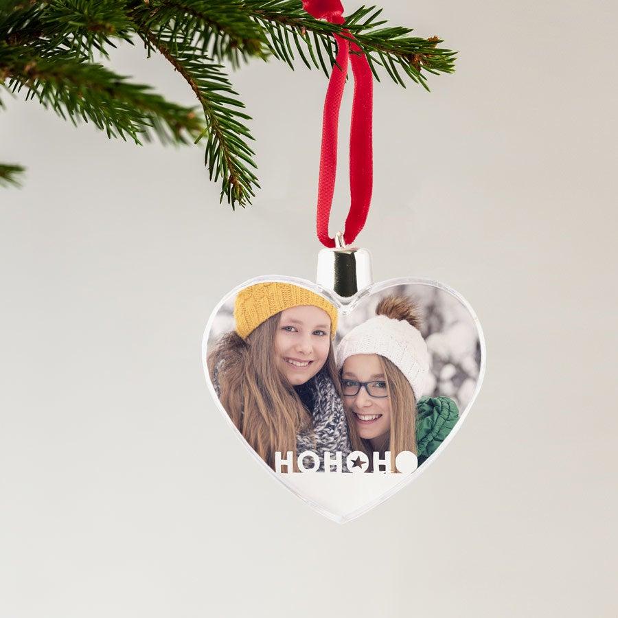 kerstbal met foto - transparante hanger