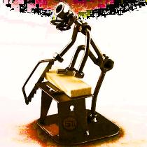 metalen beeldje beroep hobby klusser opa