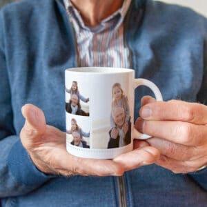 mok met eigen foto's - cadeau voor opa