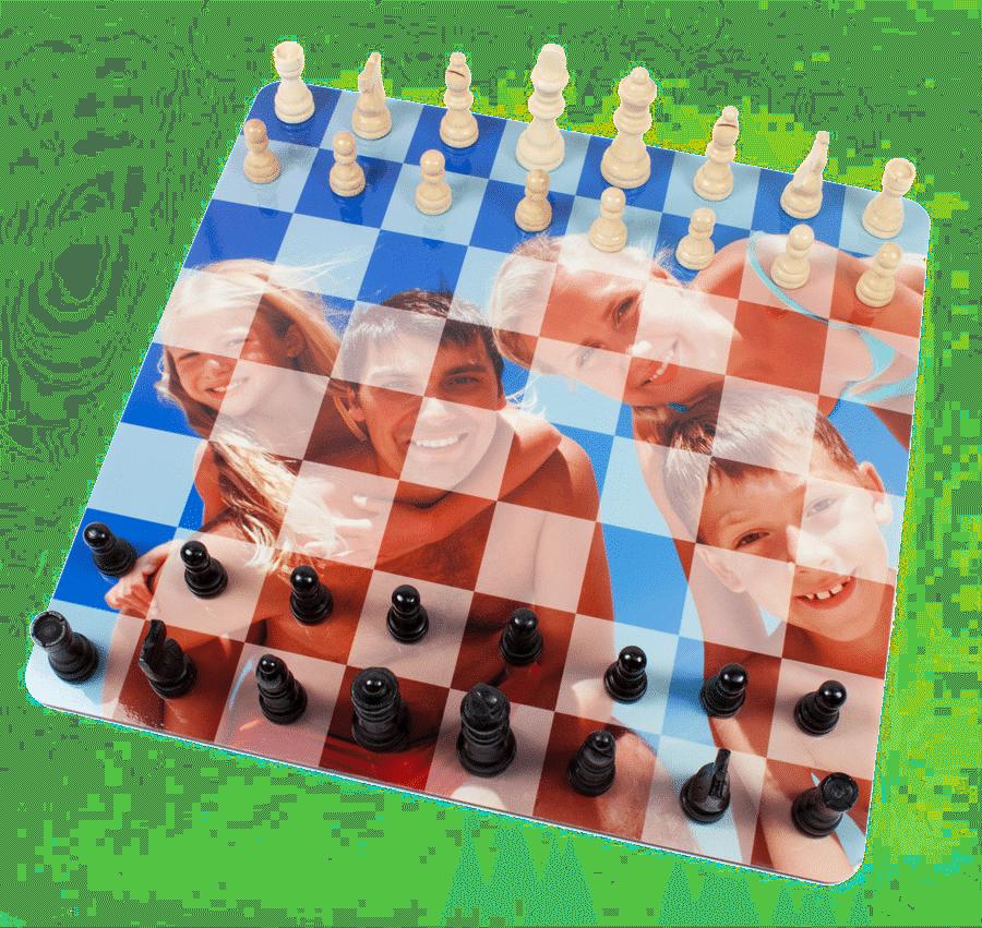 zelf een bordspel maken - schaakspel met foto