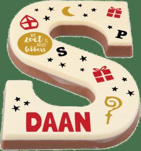 sinterklaas cadeau Opa - chocoladeletter met naam