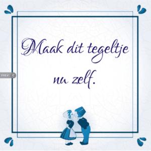 cadeau voor opa 75 jaar - Delfts blauw tegeltje met tekst