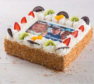 taart met eigen foto erop