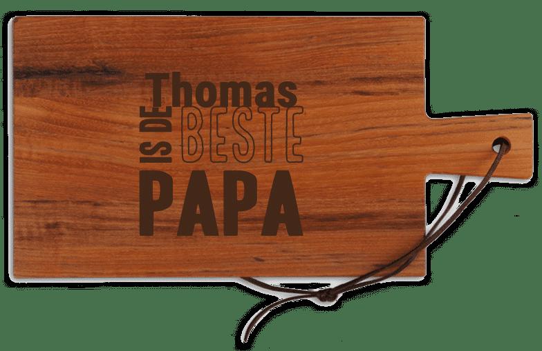 stoer vaderdagcadeau - snijplank met eigen naam