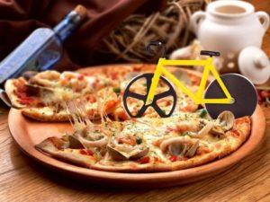 cadeau voor een wielrenfanaat - pizzasnijder fiets