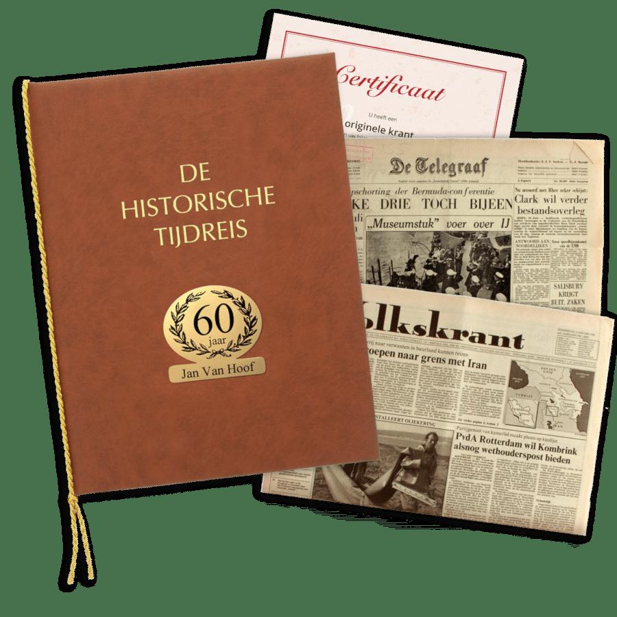 echte krant van vroeger - cadeau voor opa 75 jaar