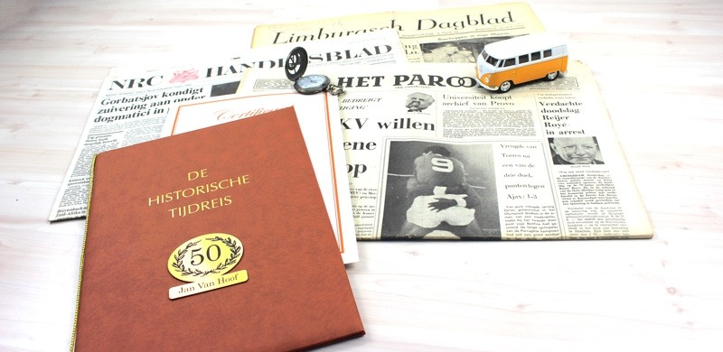 echte krant van vroeger - cadeau voor opa