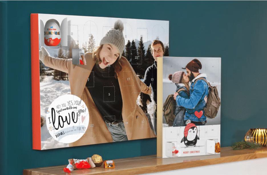 adventskalender met foto en chocolade - cadeau voor opa