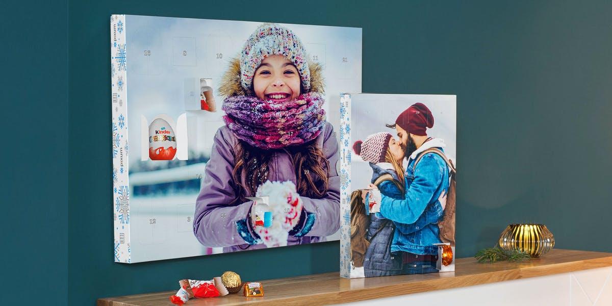 cadeau voor opa - adventskalender met foto en chocolade