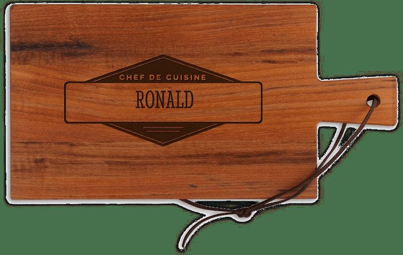 kerstcadeau voor een man - houten snijplank