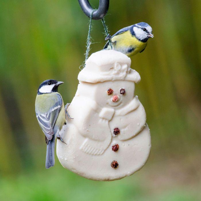 klein kerstcadeautje voor Opa - vettraktatie sneeuwman