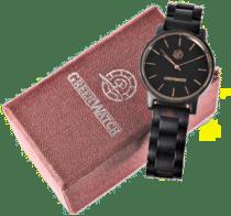 cadeau voor een man van 65 jaar - houten horloge