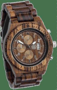 horloge van hout - cadeau voor een man van 65 jaar