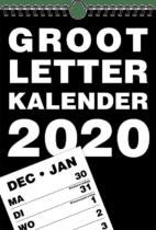 Kalender met extra grote cijfers en letters - cadeau senior