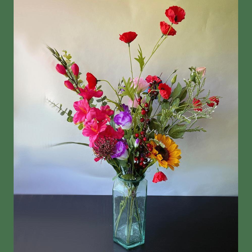 Mooie kunstbloemen - Cadeau voor opa