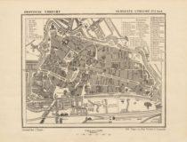 oude plattegrond van een stad of dorp - cadeau voor opa
