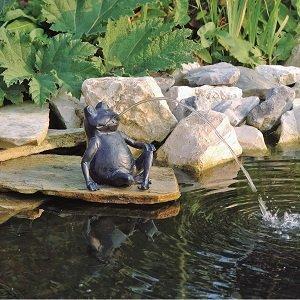 Waterspuitfiguur - cadeau voor opa's vijver