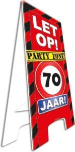 versuiering verjaardag 70 jaar - stopbord