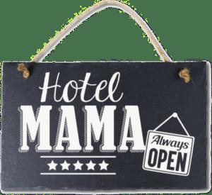 wandbordje hotel mama - moederdagcadeau