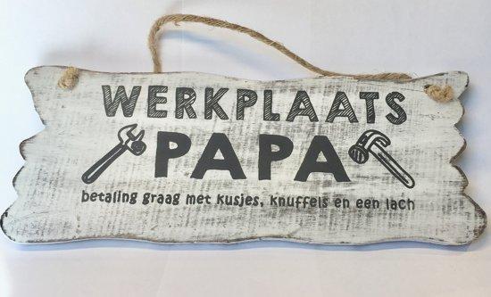 vaderdagcadeau - bordje papa's werkplaats