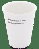 cadeau voor een taalliefhebber - porseleinen beker met gedicht martin bril