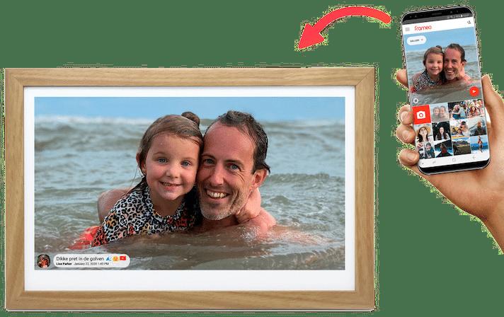 Leuk verjaardagscadeau voor Opa - fotolijst met app