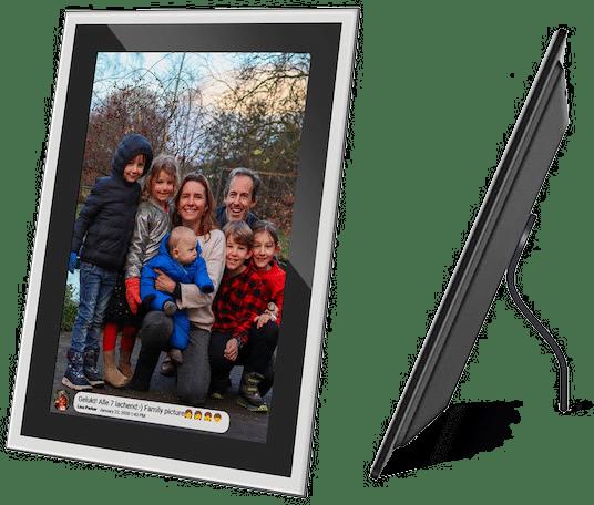 cadeau voor ouderen - fotolijst met app om foto's naar te sturen