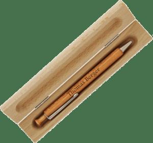 houten pen met gravure - cadeau man 70 jaar