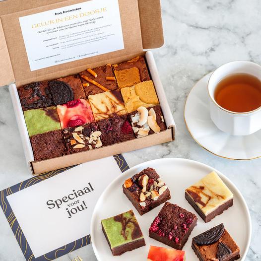 Brownies per post - Brievenbuscadeau voor Oma Opa