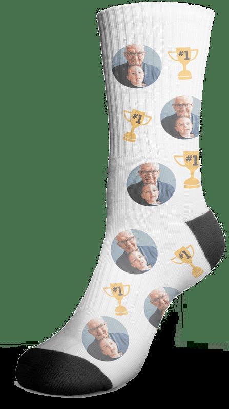 sokken met eigen foto - cadeau voor opa oma